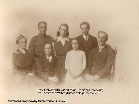 The Gammon Family 1914